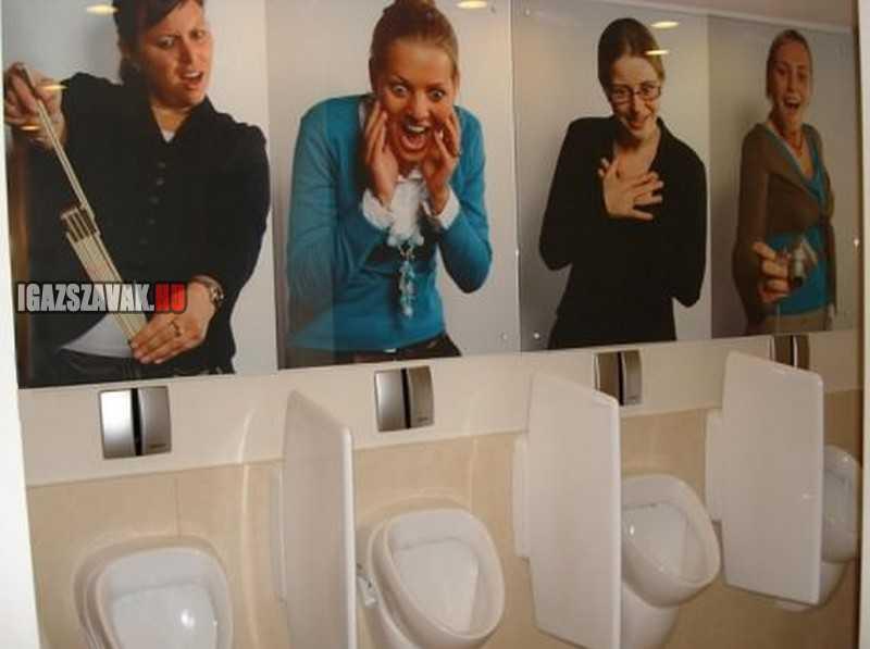 férfi wc humor Belgiumban