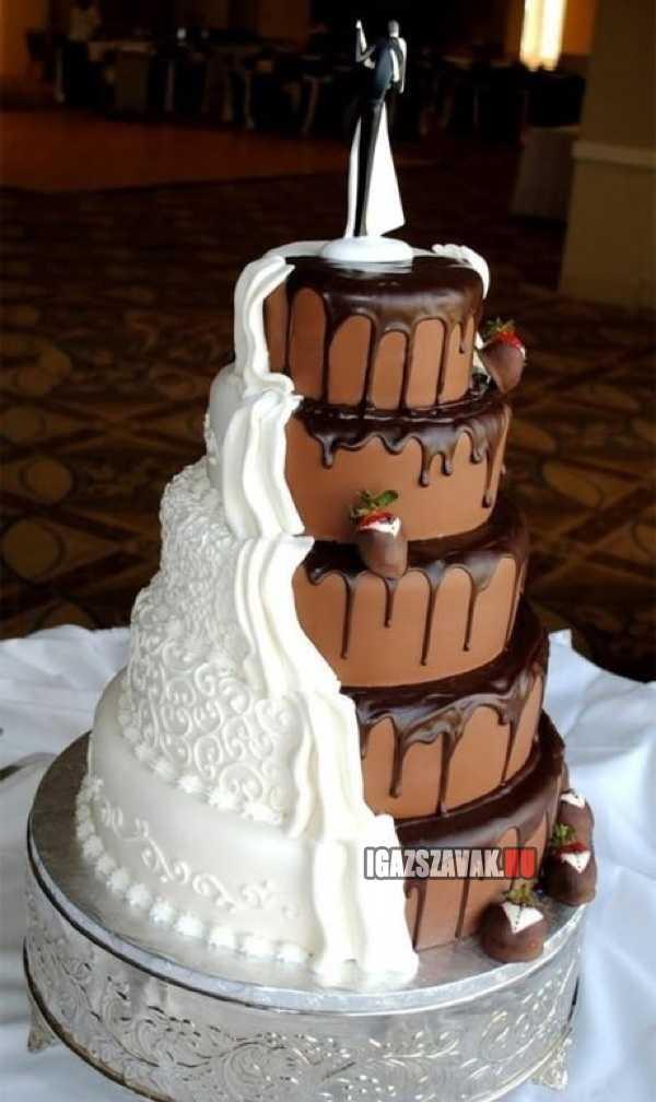 fantasztikus csavar egy eskűvői tortán