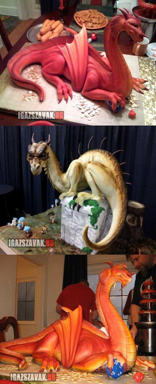fantasztikus sárkány torták