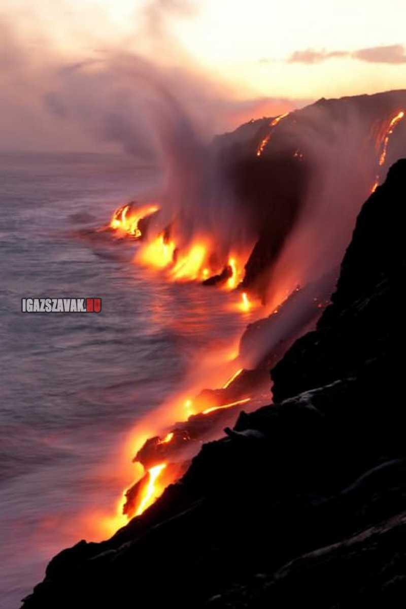 láva vs víz (hawaii)
