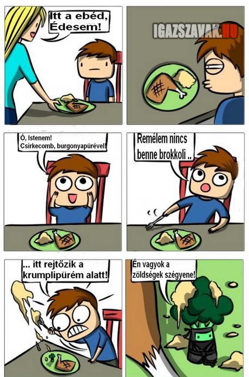 zöldségek szégyene