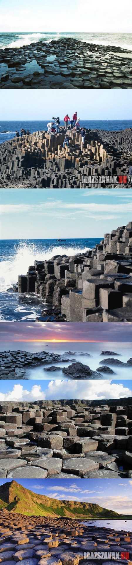 Óriások útja - bazaltorgonák Észak-Írországban