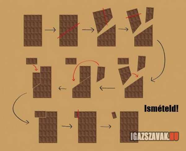 így csinálj magadnak végtelen sok csokit
