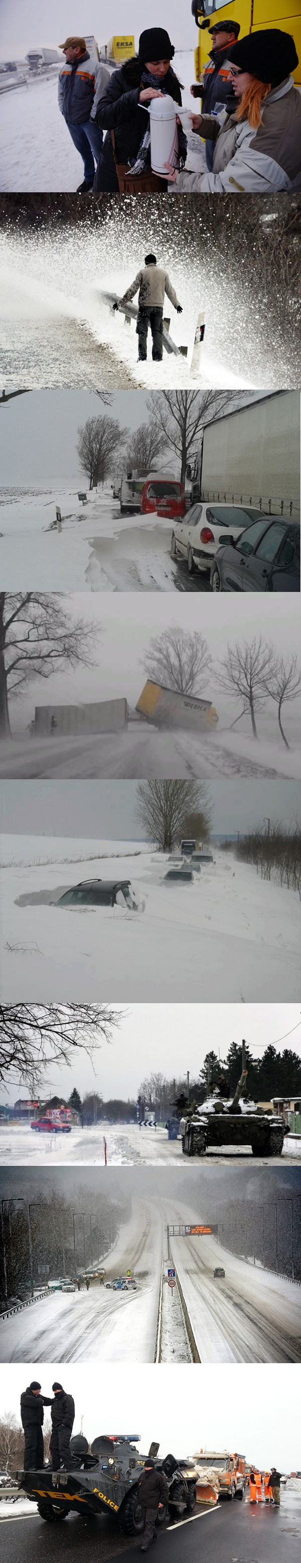 A hó fogságában, március 15