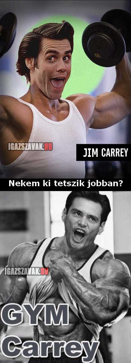 Jim Carrey vs Gym Carrey