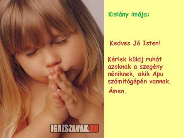 Kislány imája