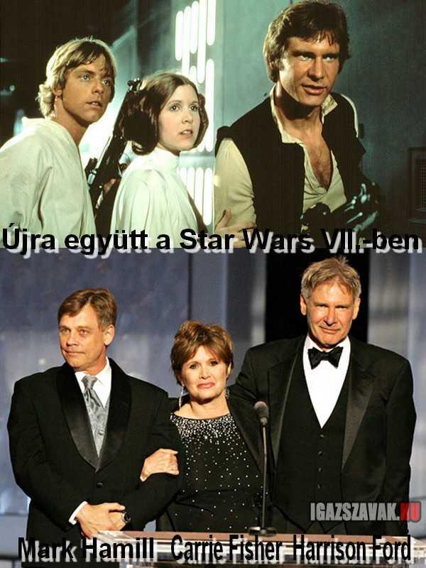 Most már biztos, újra együtt a Star Wars VII