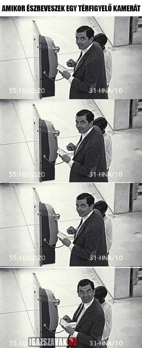 amikor észreveszek egy térfigyelő kamerát