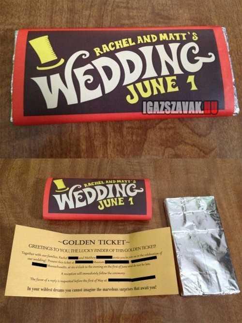 esküvői meghívó jól csinálod