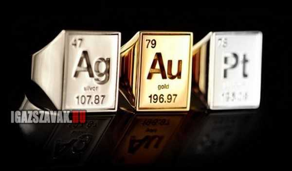 ezüst arany és platinum gyűrű