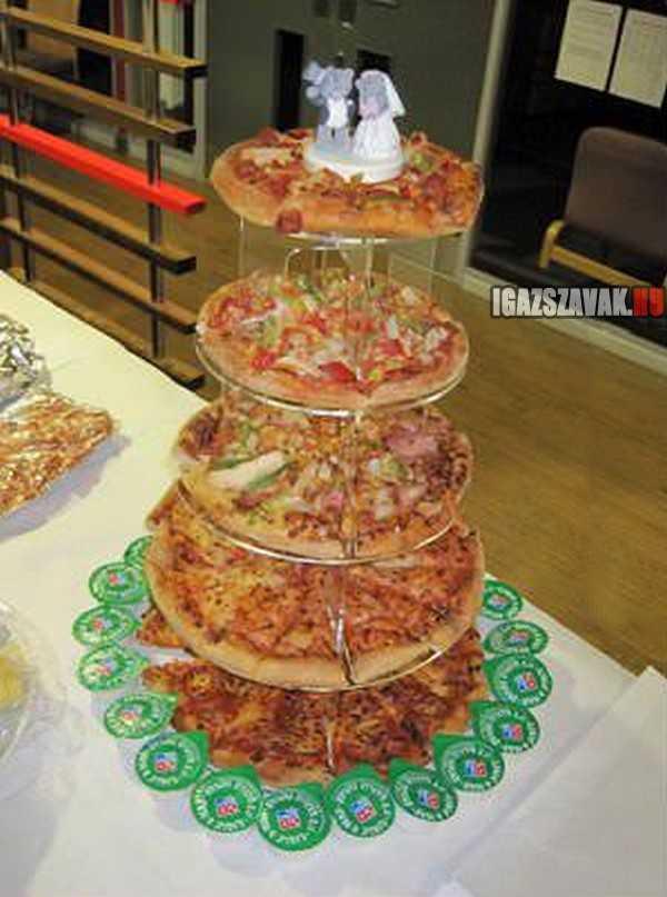ez lesz aztán az eküvői torta