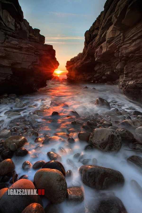gyönyörű naplemente Irországban