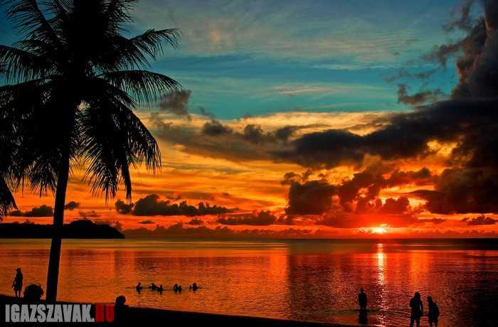 gyönyörű naplemete Guam