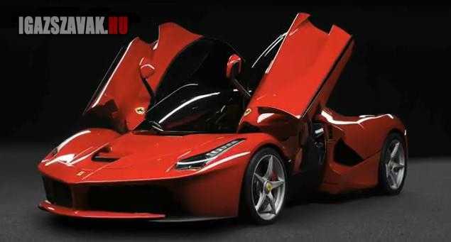 ime az új Ferrari