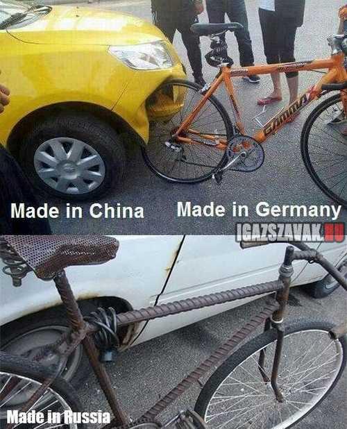 különbség a kínai, a német és az orosz termékek között
