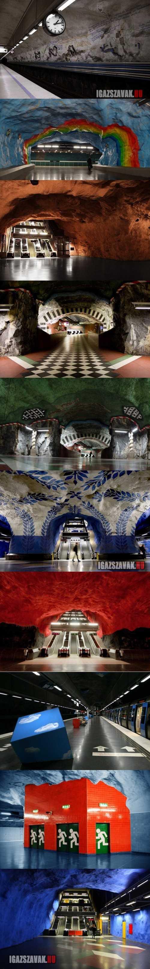 művészet a stockholmi metróban