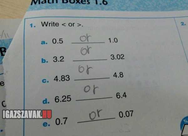 most már értem miért bukott meg a lányom matekból