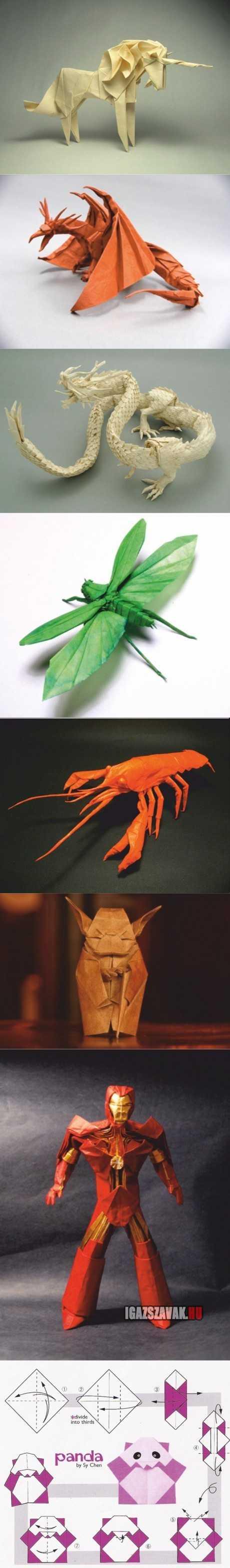 nem ma kezdték elképesztő origami alkotások.és a végén egy meglepi