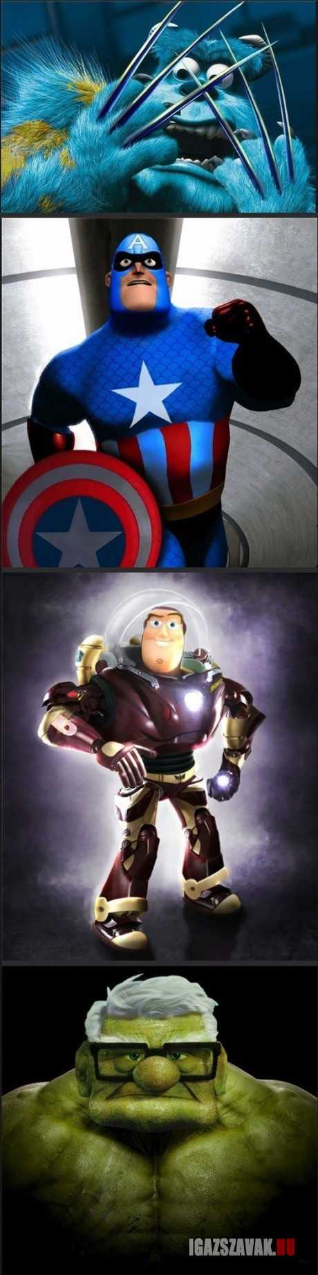 pixar vs marvel