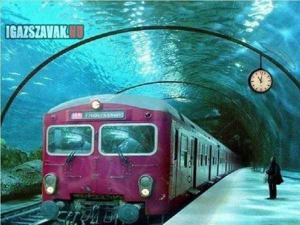vízalatti metróállomás dániában