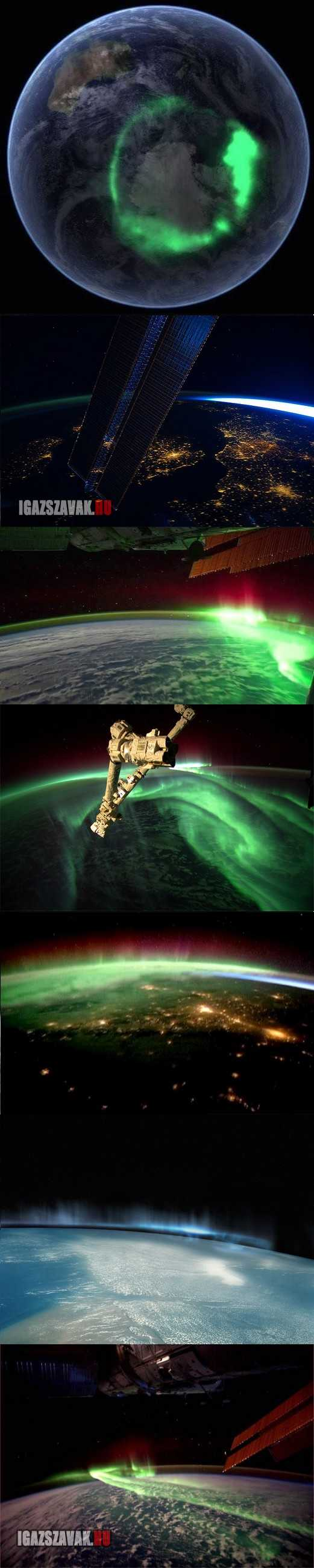 így néz ki a sarki fény az űrből
