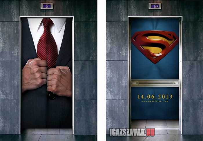 ötletes lift reklám