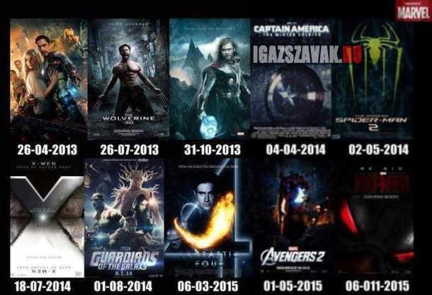 2013-ban megjelenő Marvel filmek- Várod már valamelyiket