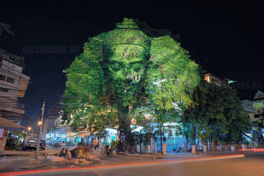 3D alkotások a fákon7