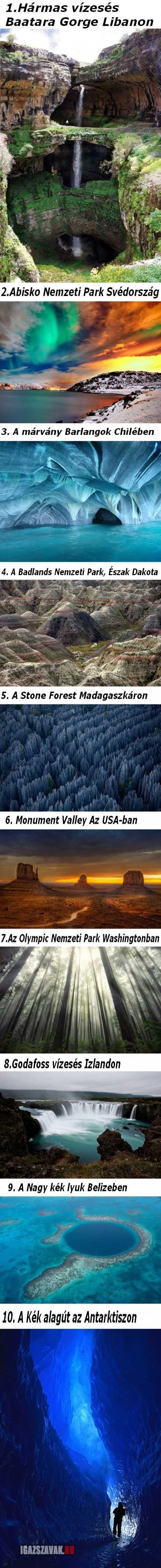 A 10 legszebb hely a világon