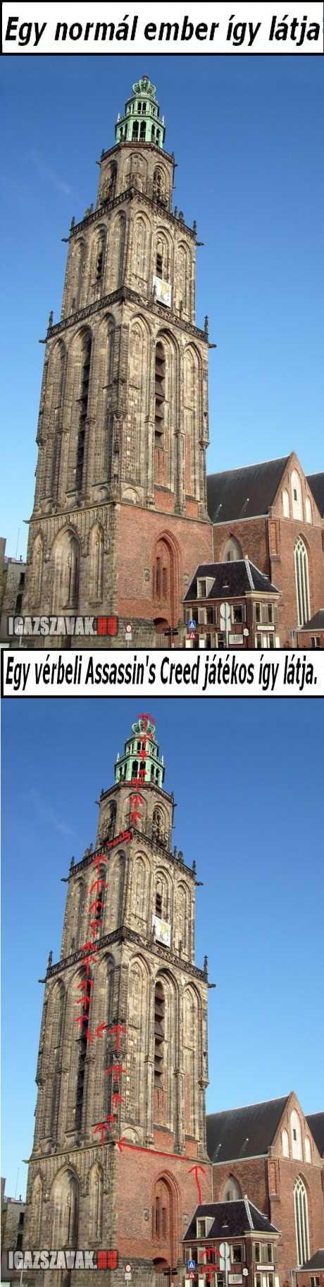 Assassin's Creed látásmód