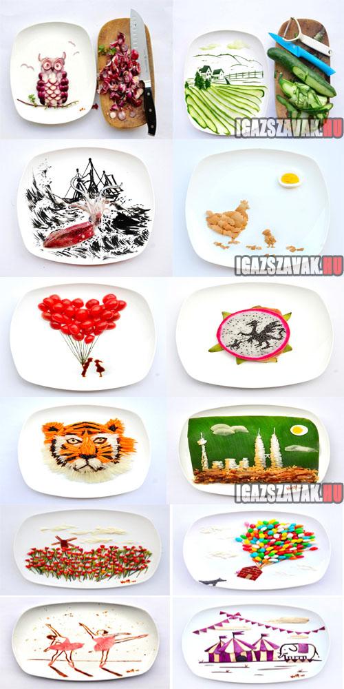 Játék az étellel