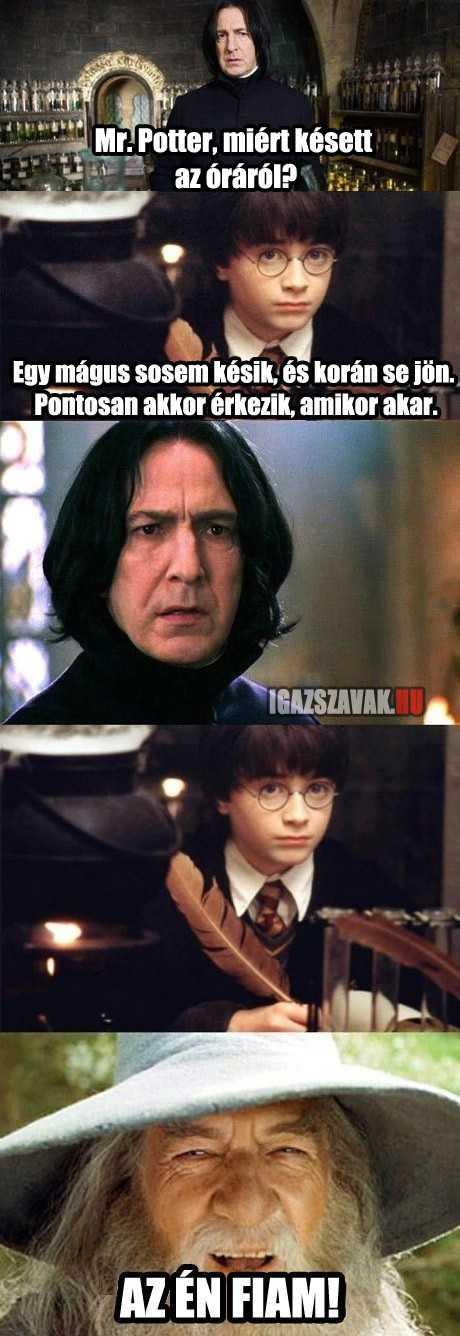 Mr. Potter, miért késett az óráról