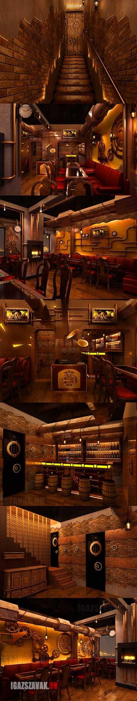 Steampunk étterem Újdelhiben