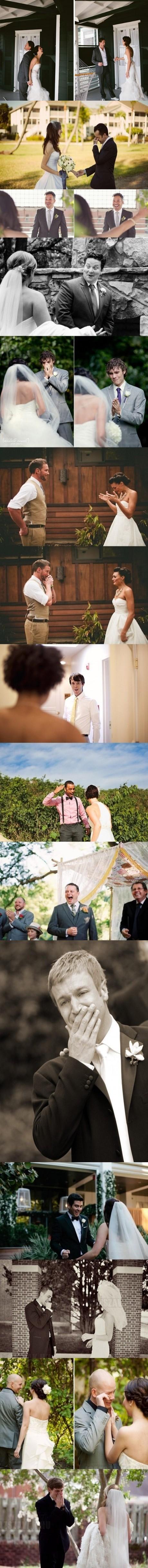 Vőlegények reakciója, mikor először látják meg menyasszonyukat az esküvői ruhában