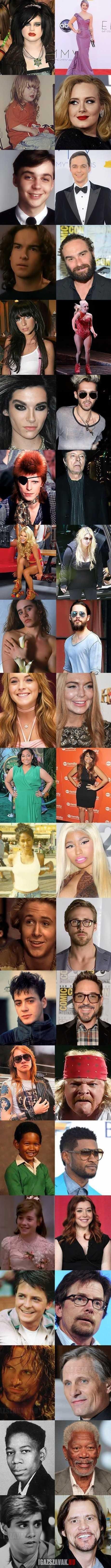 a hírességek is változnak