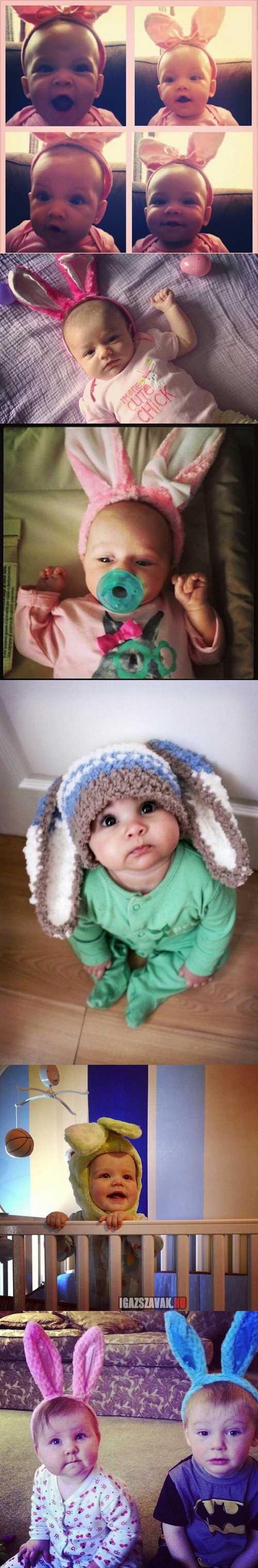 húsvéti nyuszi babák