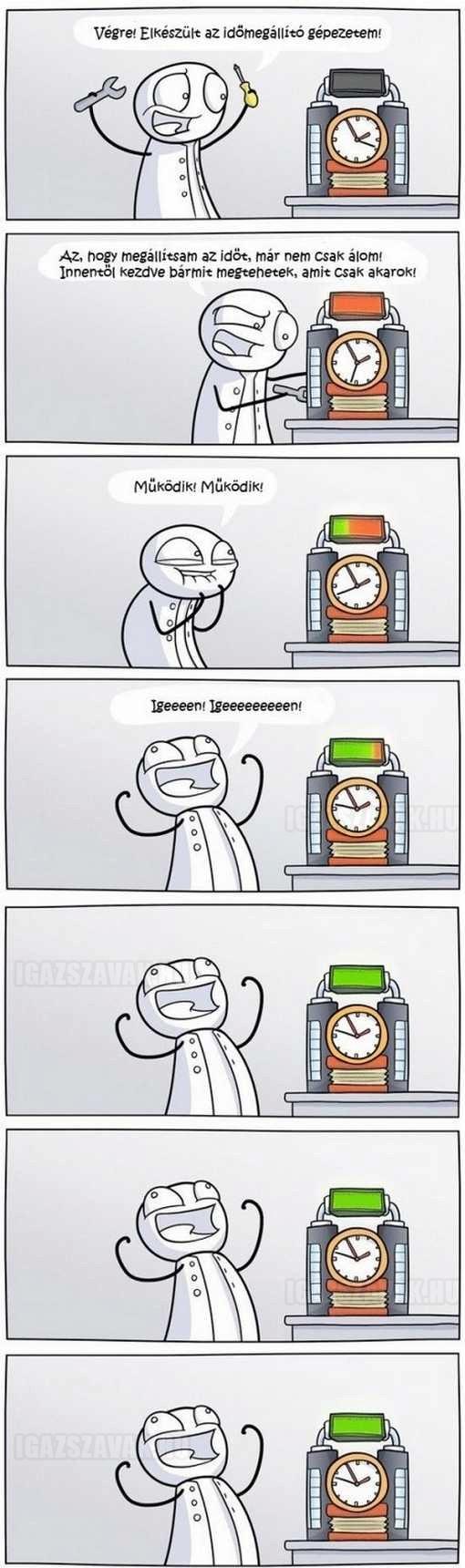 megállítom az időt