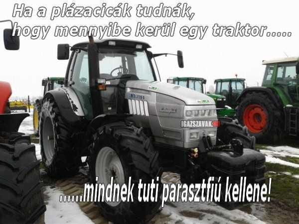 plázacicák és a traktor