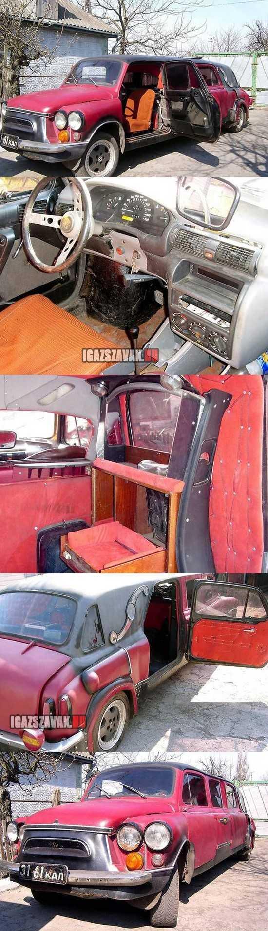 sufniban tákolt szörny-limuzin