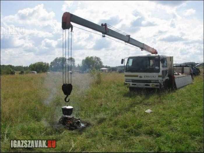 vidéki bográcsolás