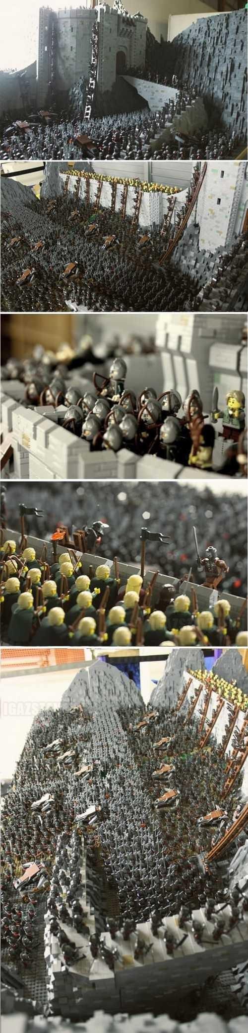 A Helm-szurdok csatája 150000db legóból