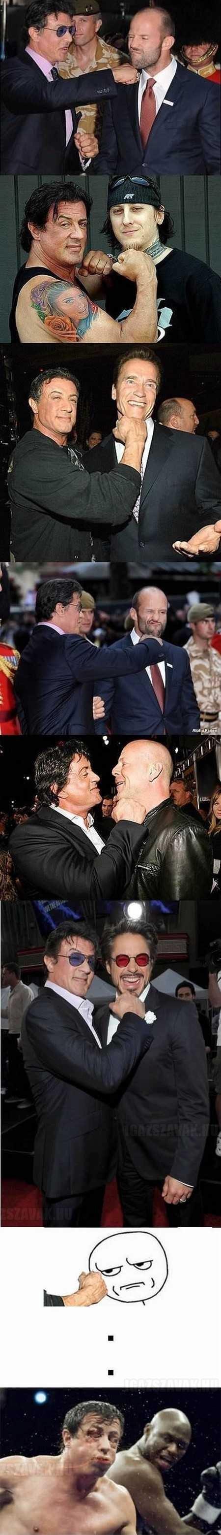 Sylvester Stallone mindenkinek odaüt, de a végén