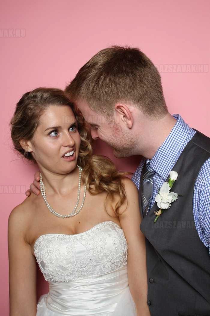 a legöszíntébb esküvői fénykép