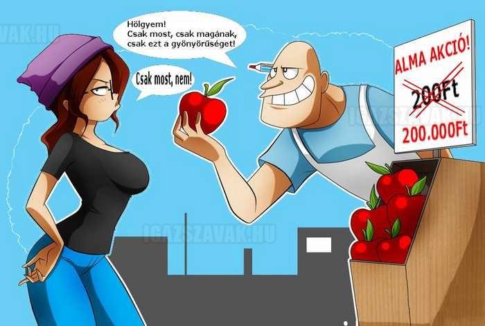 akciós alma csak most