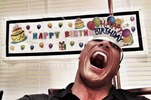 dwayne the rock johnson születésnapi fotó