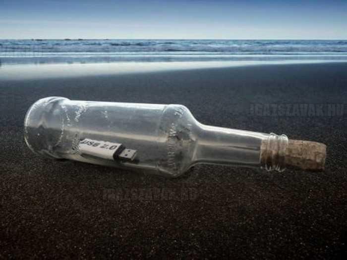 üzenet a palackban a 21 században