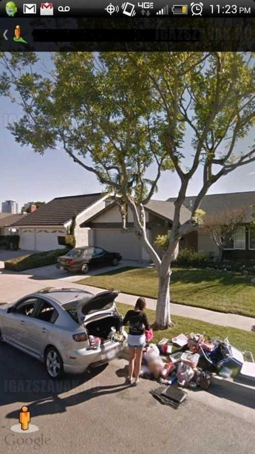 A Google Street View megörökítette, ahogy kidobom a hűtlen barátnőmet