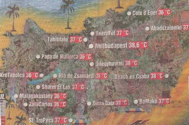 A melegre való tekintettel átnevezik a magyar településeket