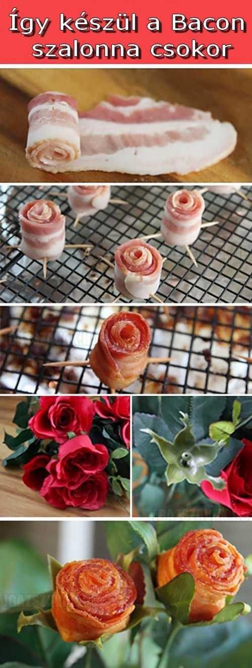Bacon virágcsokor
