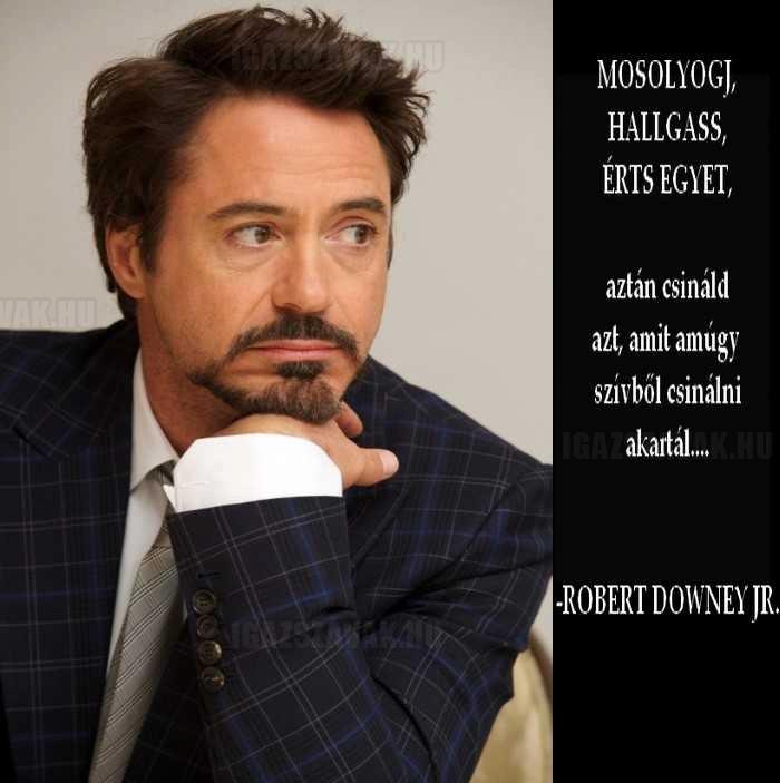 Csak egy jó tanács Robert Downey Jr-tól